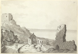 Rufus Castle and The Old Church, Isle of Portland f.179